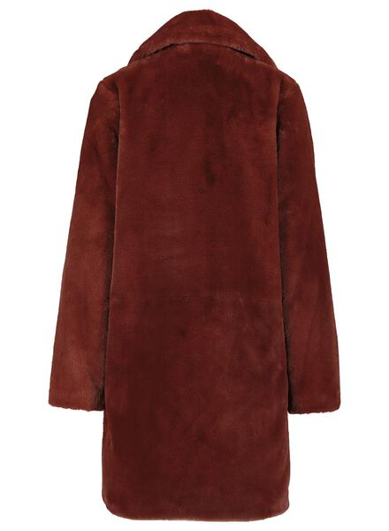women's coat - imitation fur mid brown mid brown - 1000017335 - hema