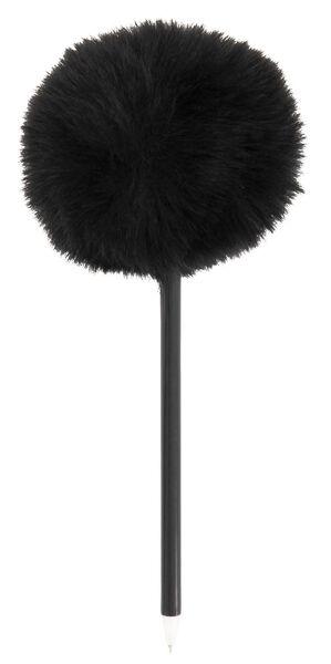 balpen met zwarte pompon zwartschrijvend - 14410026 - HEMA