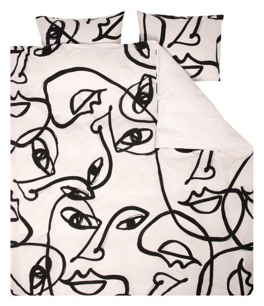duvet cover - soft cotton white white - 1000018661 - hema