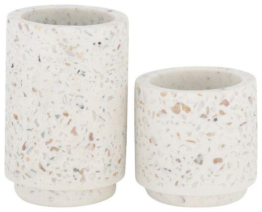 HEMA 2er-Pack Kerzenständer, Terrazzo