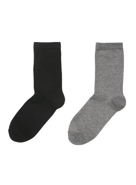2 paires de chaussettes thermo pour femme noir noir - 1000010933 - HEMA