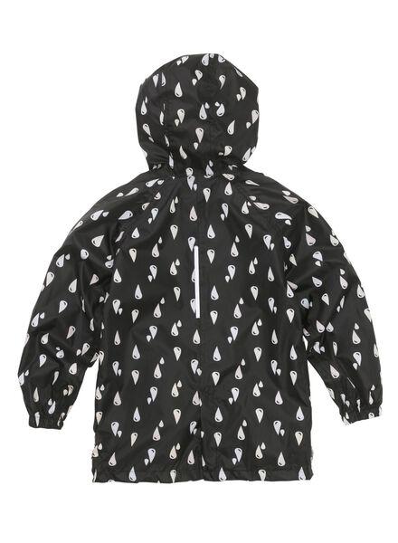 opvouwbare kinder regenjas zwart zwart - 1000013168 - HEMA