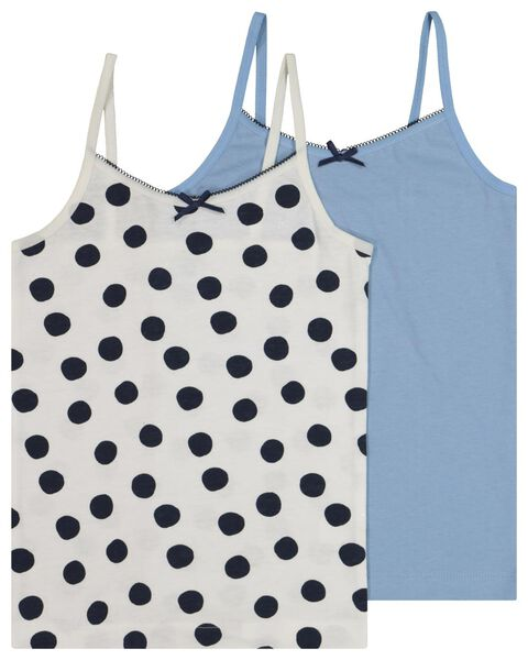 2-pack children's vests blue blue - 1000020479 - hema