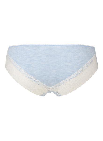 3-pack women's briefs light blue light blue - 1000006553 - hema