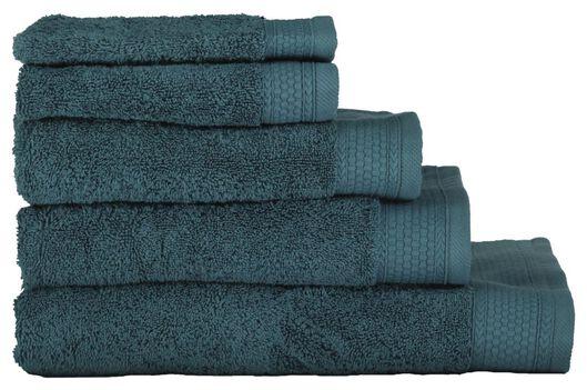 serviettes de bain - qualité hôtel très épaisse vert foncé vert foncé - 1000015163 - HEMA