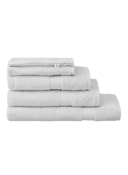 guest towel - 30 x 55 cm - heavy quality - light grey plain light grey guest towel - 5240206 - hema