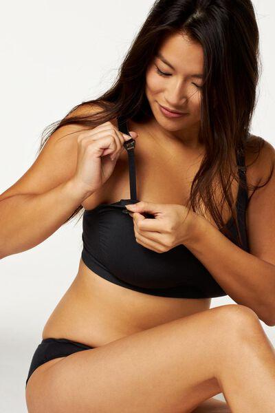 nursing bra seamless micro black black - 1000019885 - hema