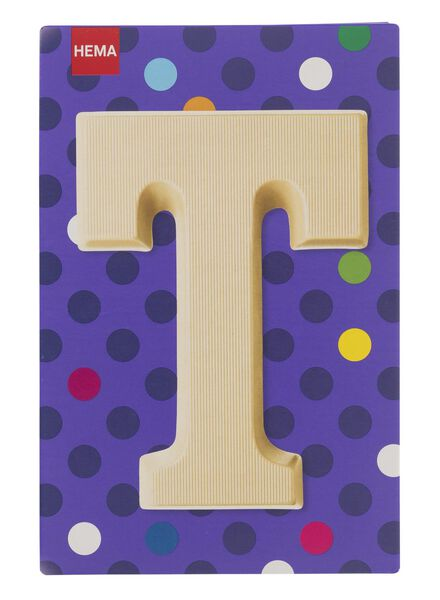 white chocolate letter T - 10037017 - hema