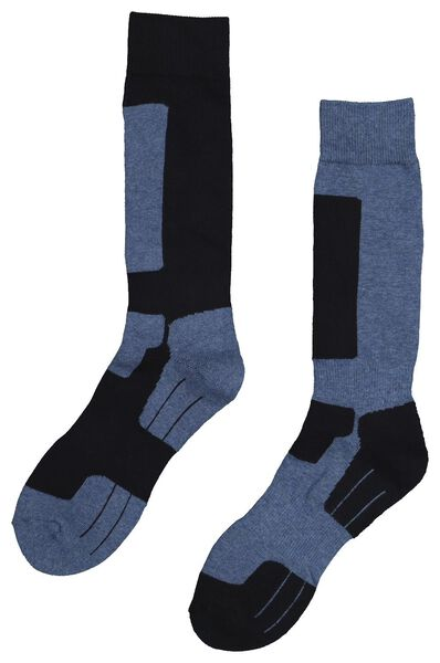 2-pack hiking socks blue blue - 1000018894 - hema