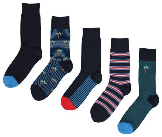 5-pack men's socks black black - 1000018844 - hema