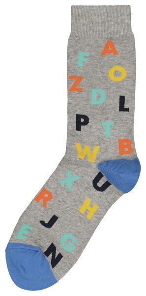 chaussettes homme gris chiné gris chiné - 1000018848 - HEMA