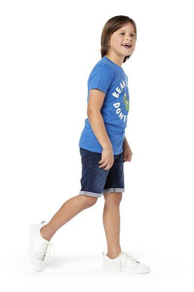 kurze Kinder-Jogdenim dunkeljeansfarben dunkeljeansfarben - 1000018917 - HEMA