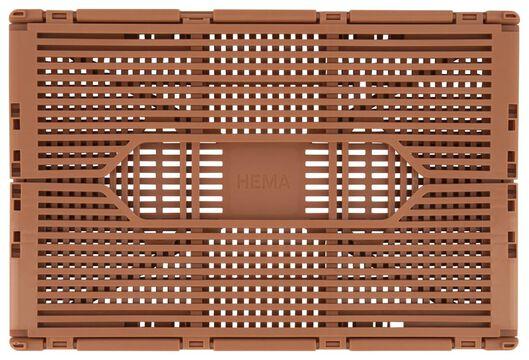 caisse pliante tableau recyclée 20x30x11,5 terracotta clair terra 20 x 30 x 11,5 - 39821073 - HEMA