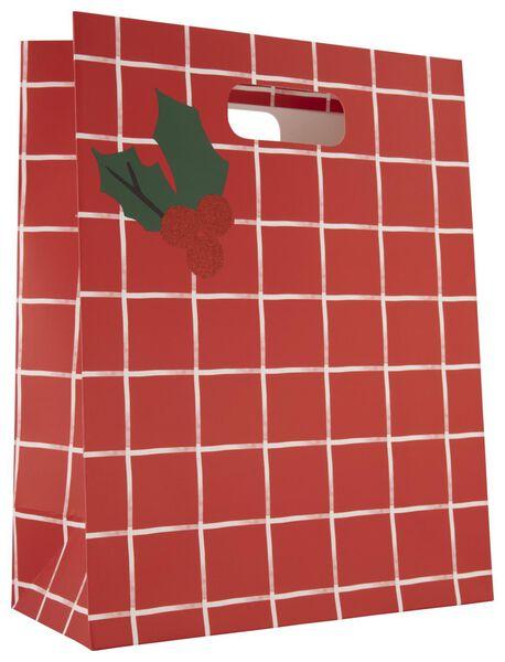 gift bag paper L 32x25x12 holly - 25700143 - hema