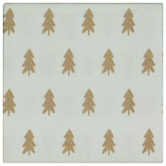 20 serviettes 24x24 papier - sapins - 25600156 - HEMA