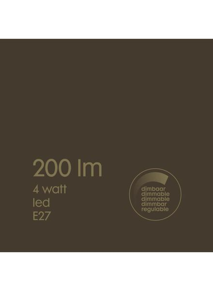 LED-Lampe, 4W, 200Lumen, Edison, gold - 20020076 - HEMA