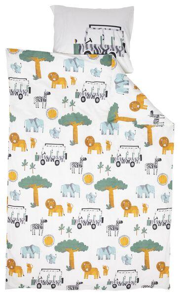 children's duvet cover - 140 x 200 - soft cotton - animals - 5740039 - hema