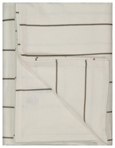 nappe 140x240 chambray - beige lignes - 5390014 - HEMA