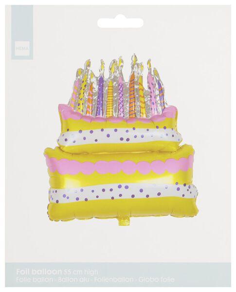 Folienballon Torte, 55 cm - 14230290 - HEMA