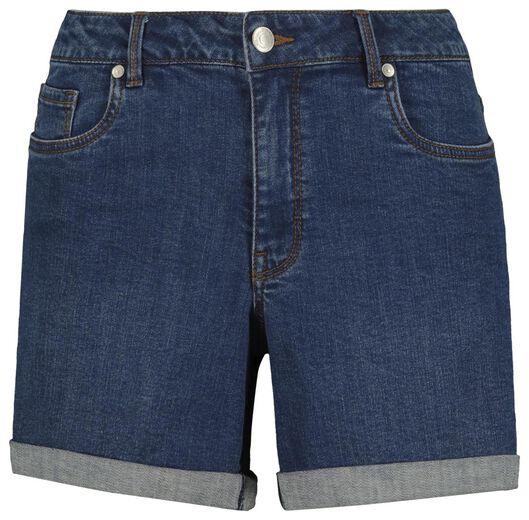 short femme denim bleu moyen bleu moyen - 1000019614 - HEMA