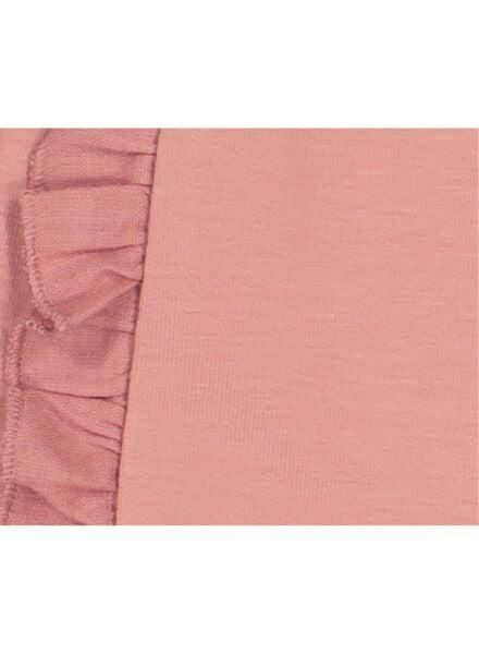 baby sweatbroek met ruche roze roze - 1000016987 - HEMA