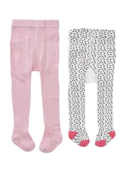 2-pack baby tights pink pink - 1000006459 - hema
