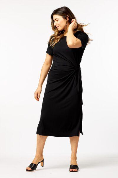 damesjurk strik zwart zwart - 1000023970 - HEMA