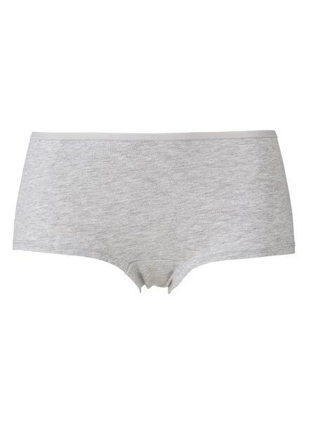 3er-Pack Damen-Boxershorts, Baumwolle graumeliert graumeliert - 1000012297 - HEMA