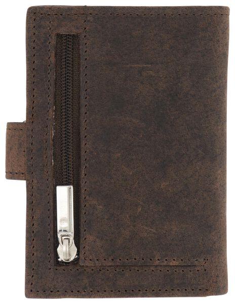 portemonnaie en cuir avec pochettes marron - 18120067 - HEMA
