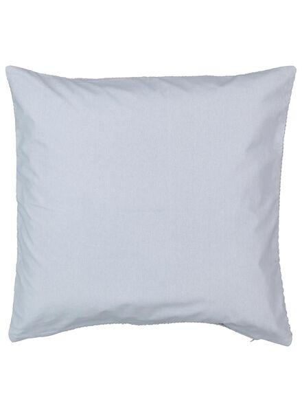 housse de coussin - 50 x 50 cm - bleu clair tissé - 7392104 - HEMA