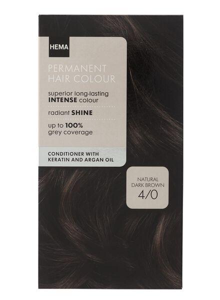 coloration cheveux chatain foncé naturel 4/0 - 11050018 - HEMA