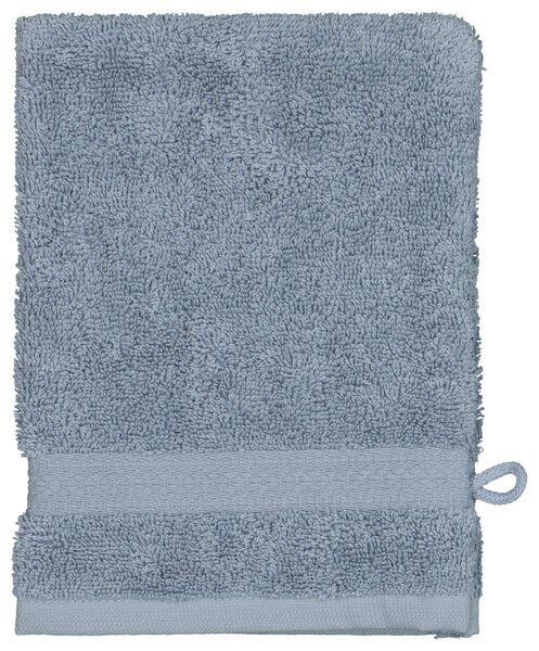 gant de toilette - qualité épaisse - bleu glacier - 5290070 - HEMA