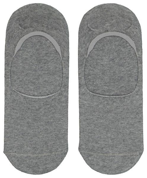 2er-Pack Herren-Füßlinge graumeliert graumeliert - 1000023342 - HEMA