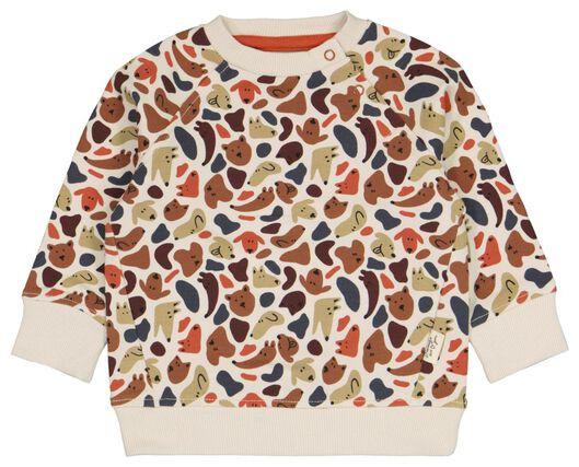 Babyoberteile - HEMA Baby Sweatshirt Mit Bambus, Hunde Eierschalenfarben - Onlineshop HEMA