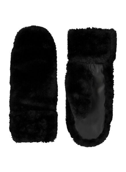 moufles femme touchscreen noir noir - 1000014466 - HEMA