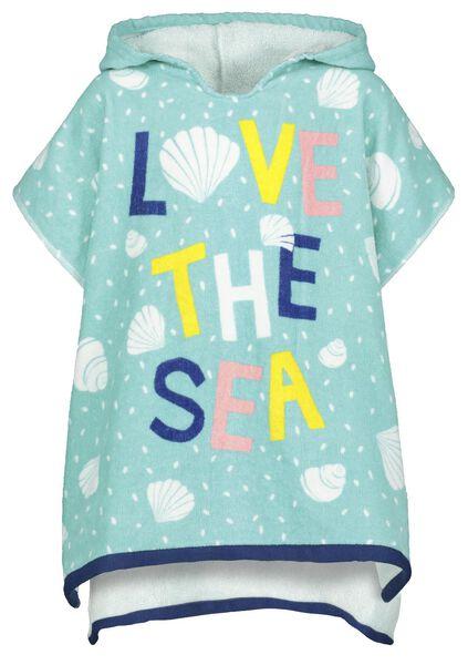 poncho de plage pour enfant 60x60 rPET mer - 5290081 - HEMA