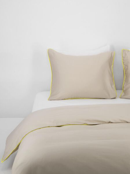 housse de couette - satin de coton qualité hôtel - sable sable - 1000021843 - HEMA