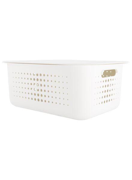 boîte de rangement 37 x 28 x 15 - plastique recyclé - blanc - 39891004 - HEMA