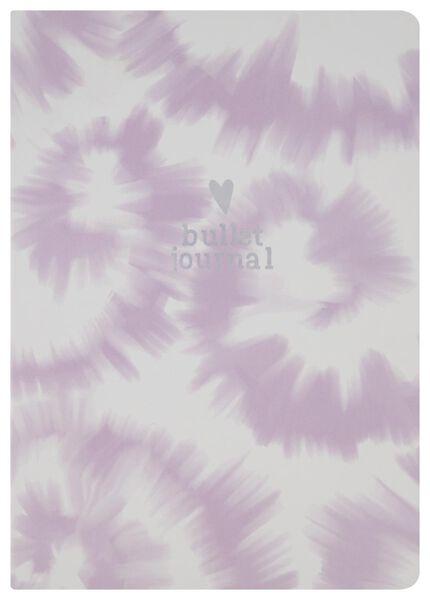 Bullet-Journal, 25 x 17.7 cm, Batikmuster, weiß/rosa - 14590239 - HEMA