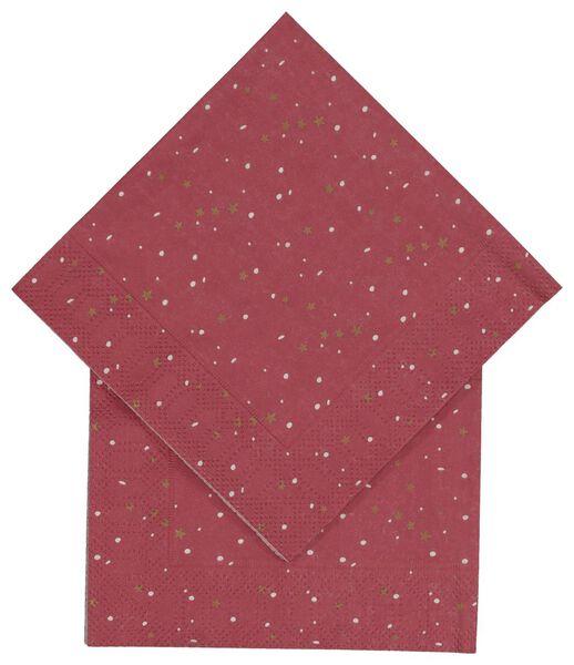 20 serviettes 24 x 24 - 25600012 - hema