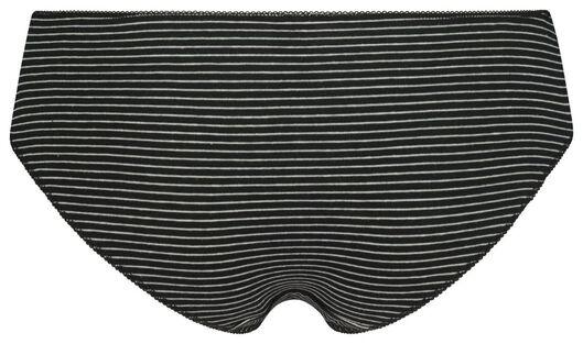 3er-Pack Damen-Slips schwarz schwarz - 1000020851 - HEMA