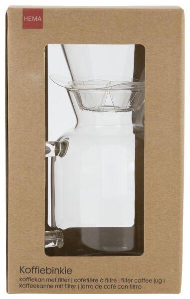 Kaffeekanne Koffiebinkie mit Filter, Glas, 0.6 Liter - 80610079 - HEMA