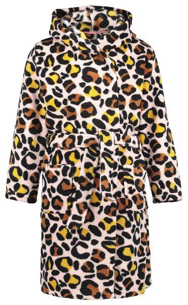 Kinder-Bademantel, Leopardenmuster rosa rosa - 1000020711 - HEMA
