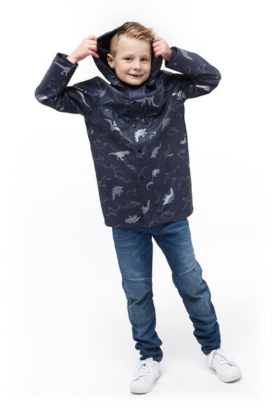 children's jacket with a hood mid blue mid blue - 1000017676 - hema