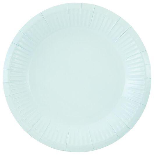 8 assiettes à dessert en carton Ø17.5cm bleu - 14200556 - HEMA