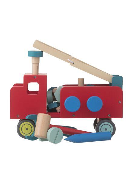 Holz-Konstruktionsspielzeug, Auto - 15122230 - HEMA