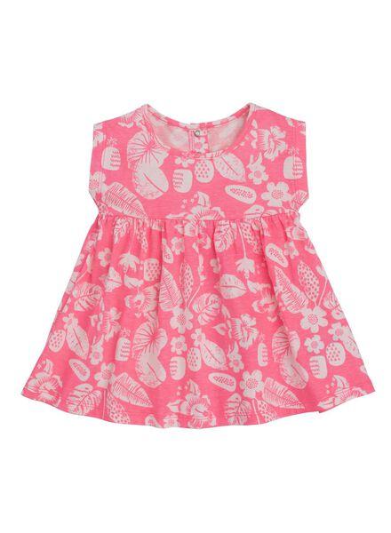 HEMA Baby Kleid Neonrosa