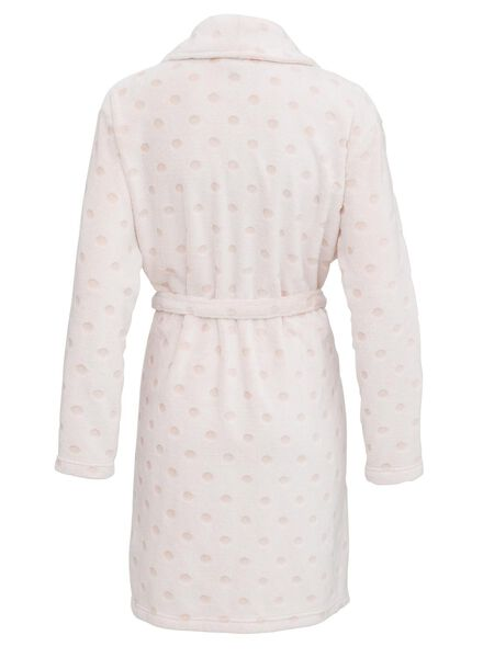 peignoir femme en polaire rose pâle rose pâle - 1000011785 - HEMA