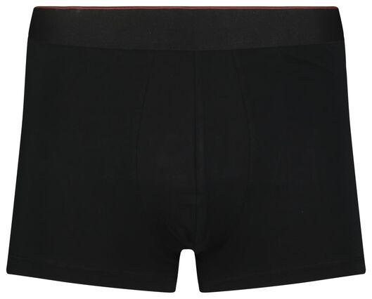 2 boxers homme modèle court real lasting cotton noir noir - 1000018787 - HEMA