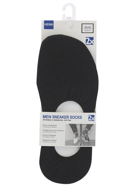 Socken - HEMA Herren Sneakersocken, 2er Pack Schwarz  - Onlineshop HEMA